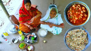 Chilli Chicken & Fried Rice Prepared by Limu for our Grandmother purely Village Style | Village Food