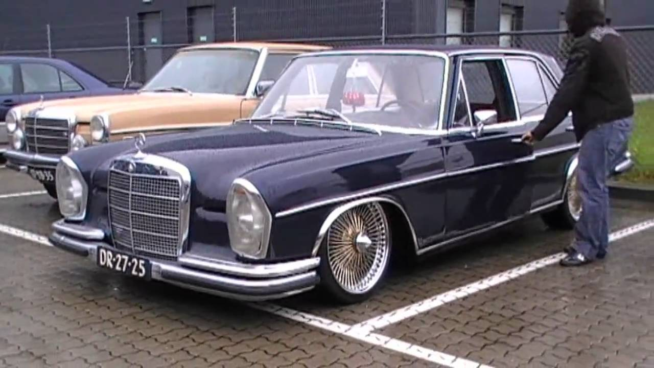 mercedes benz 280 se automatic lowrider bouncing. Black Bedroom Furniture Sets. Home Design Ideas