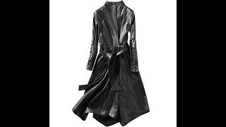 Новинка 2020 модные осенние пальто из натуральной кожи женская ветровка овечьей облегающее длинное