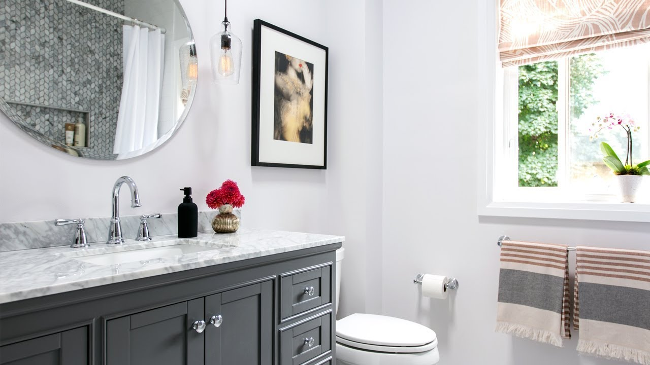Gorgeous Bathroom Renovation | Small Bathroom Design Ideas - YouTube