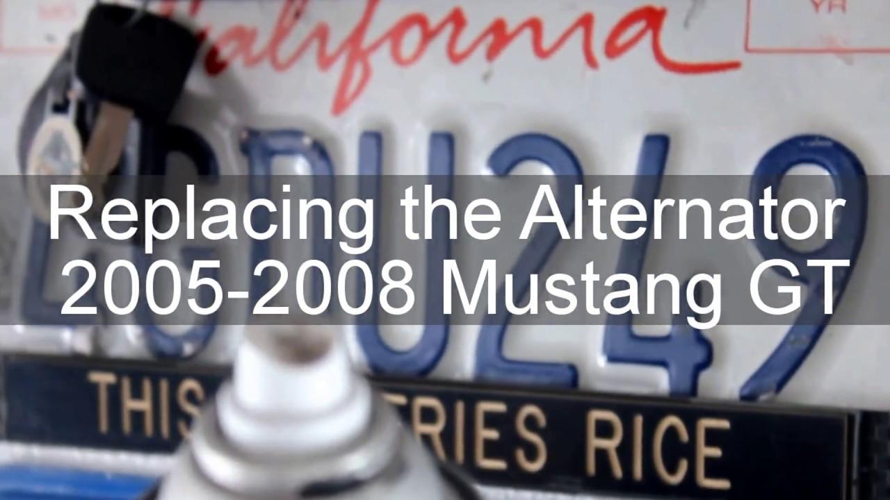 2005 08 Mustang Gt Alternator Replacement