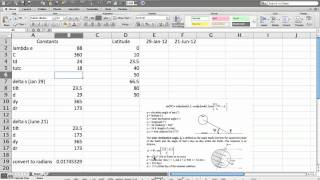 Solar Elevation Angle Calculation Part 1 (of 2)