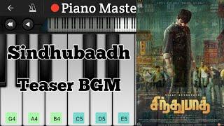 Sindhubaadh Teaser BGM | Piano Tutorial | Vijay Sethupati | Piano Master