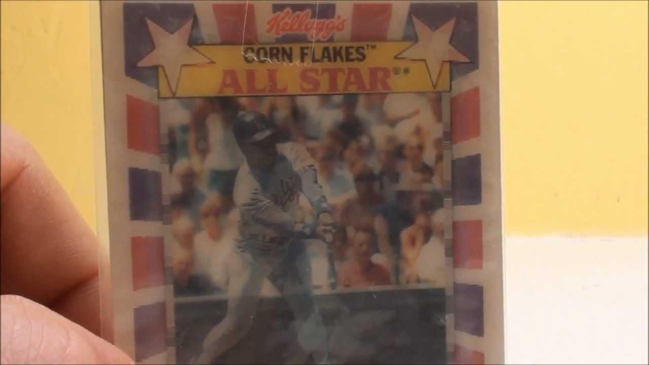 Kelloggs Hologram Bill Madlock Dodgers Baseball Card Kelloggs Corn Flakes Hologram Card