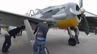 First Engine start up, FW190 Focke Wulf, April 2009.