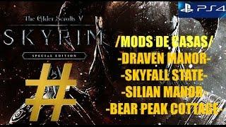 SKYRIM SPECIAL EDITION /MOD CASA/ DRAVEN MANOR-SKYFALL STATE-SILIAN MANOR-BEAR PEAK COTTAGE