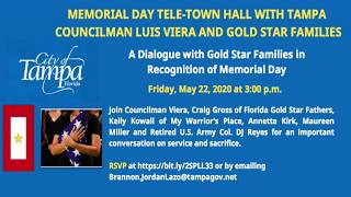 May 22, 2020 - Gold Star Families with Tampa City Councilman Luis Viera.