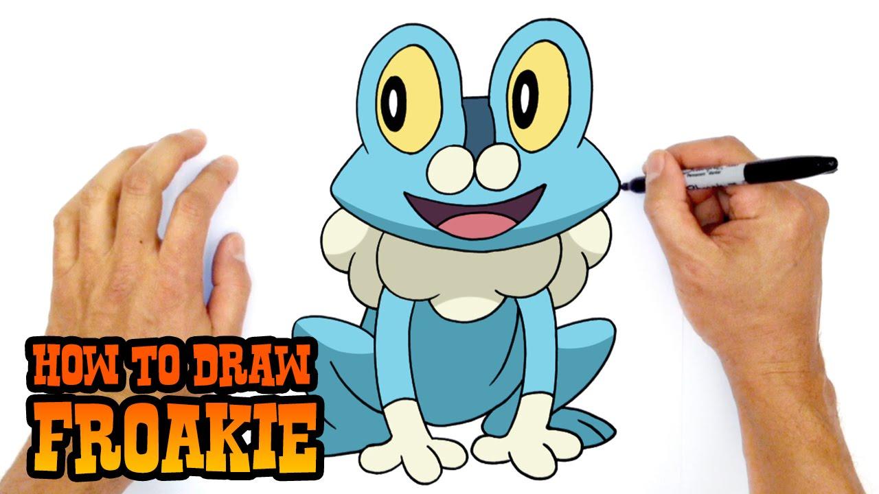 how to draw froakie pokemon youtube