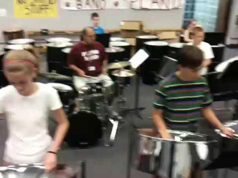 Plano Middle School Percussion Camp 2009 Steelband La Cucar