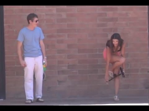 Girl Taking Off Her Panties In Public Prank