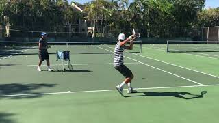 Tennis training with coach Brian Dabul. Reaction + Balance + Speed + Technique + Spin