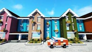100 домов в майнкрафте
