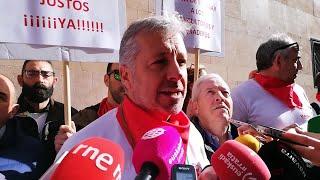 """Manifestación de UAGN y UCAN en Pamplona para reclamar unos """"precios dignos en origen"""""""