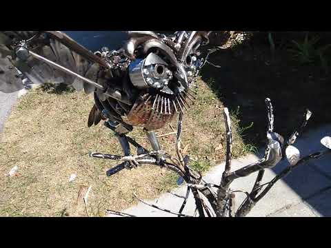 Owl made from scrap metal