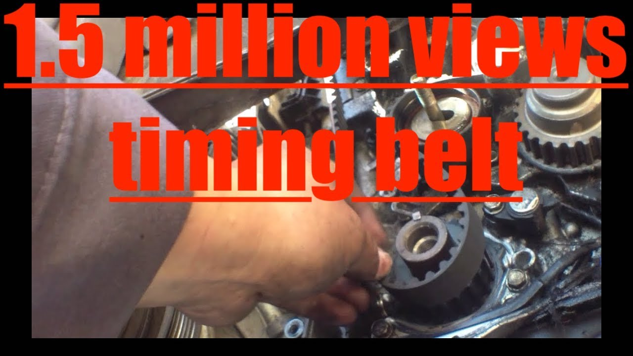 follow step by step timing belt replacement 97 02 honda accord 2002 honda accord get a diagram of the timing marks and aux belt [ 1280 x 720 Pixel ]