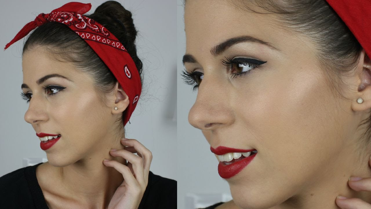 Pin Up Maquillaje De Los Años 50 1950s Inspired Makeup Pin Up