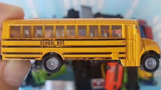 Cars for kids, Toys review from Box School Bus, Taxi, Police Car, and more toys