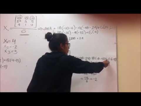 Solución de ecuaciones Método de Cramer