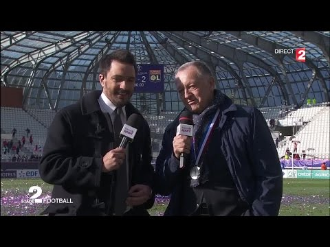 Jean-Michel Aulas s'exprime dans Stade 2