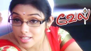 Vel | Vel full Movie | Vel Tamil Movie scenes | Kalabhavan Mani Funny Scene | Suriya Follows Asin