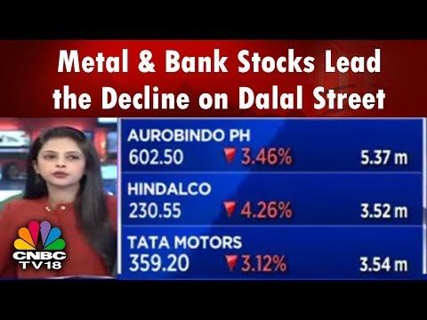 Metal & Bank Stocks Lead the Decline on Dalal Street | Trading Hour | CNBC Tv18