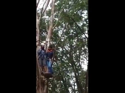 Ziplining at Bhavani Islands, Vijayawada.