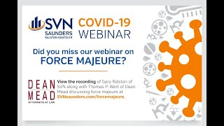 Webinar: What is Force Majeure - SVNsaunders.com/forcemajeure