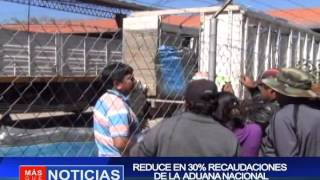 Reduce el 30 % de recaudaciones de la Aduana Nacional