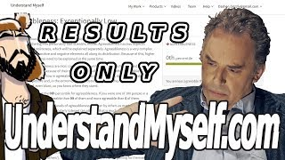 UnderstandMyself.com RESULTS Only- Jordan B Peterson's Personality Test: