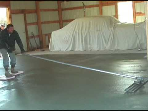 How to pour a concrete slab  YouTube