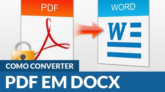 como fazer para converter arquivo pdf em word