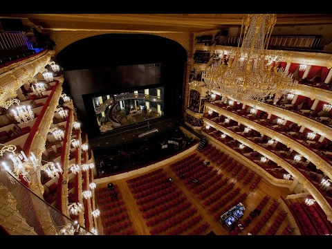 Большой театр, вид с балкона 4 и 1 яруса