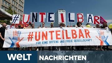 """WELT NEWS IM STREAM: """"Band der Solidarität"""" - Menschenkette gegen Rassismus in Berlin"""