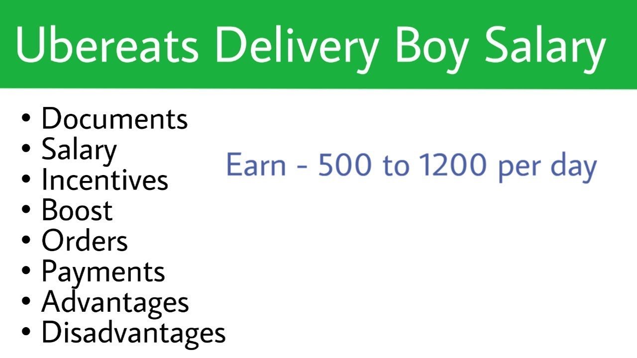 UBER Eats Delivery Boy Salary | Ubereasts Delivery Boy Job in India|  Part-Time Job