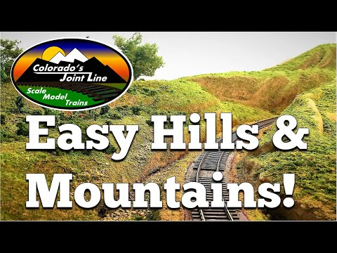 How to Make Easy Hills & Mountains for Model Train Layouts and Dioramas