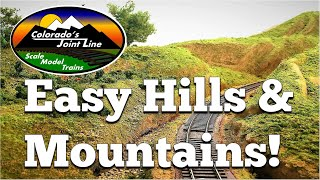 Wie man Leicht Hügeln und Bergen zum Modell Zug Layouts und Dioramen