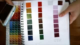 M. Graham Gouache - Wie Sie eine Farbkarte & Mehr