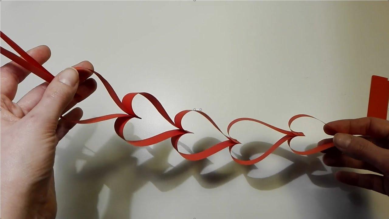 Jak zrobić sercowy łańcuch z pasków papieru