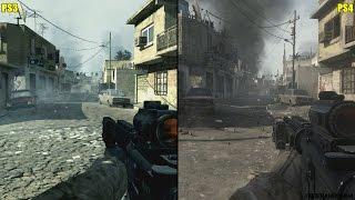 Call Of Duty Modern Warfare Remastered Vs Original PS4 Vs PS3 Graphics Comparison