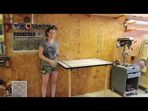 Create a Folding Rockler T-Track Table | April Wilkerson