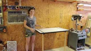 Create a Folding Rockler T-Track Table by April Wilkerson