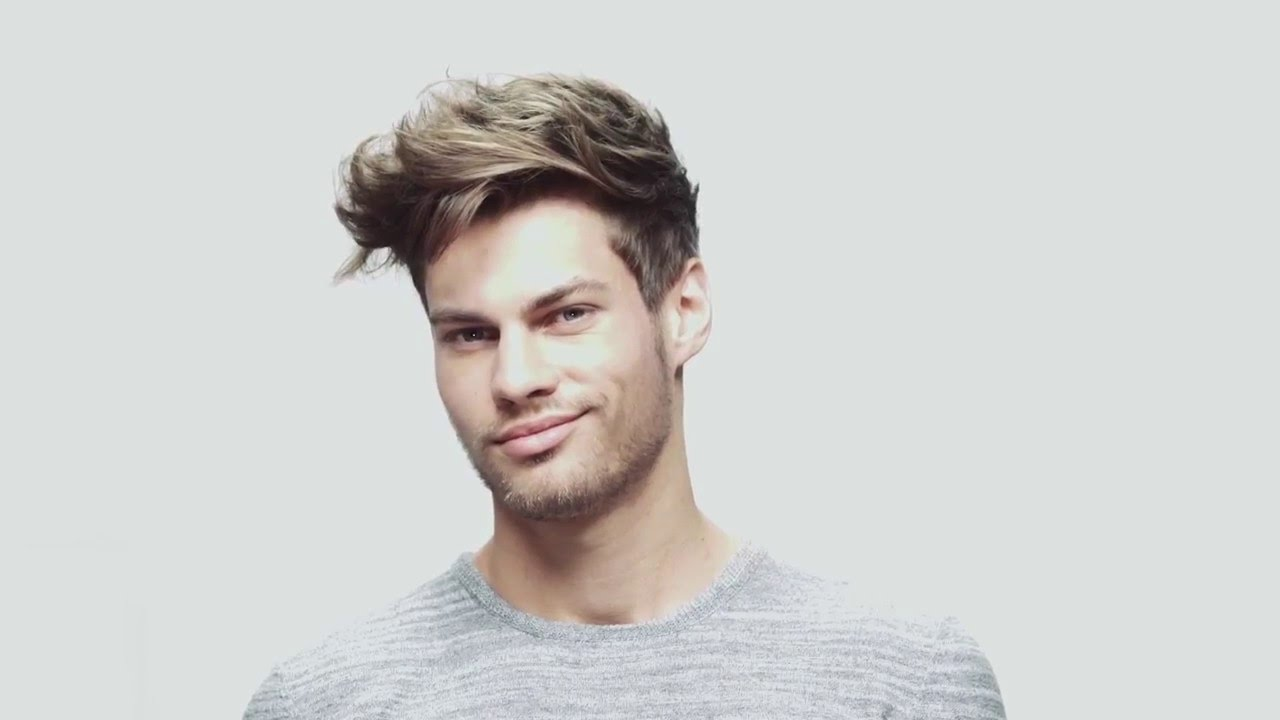 Men Brand New Water Textured Hairstyle