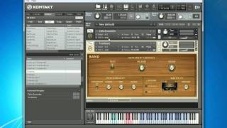 Loading and Playing Instruments with Native Instruments Kontakt 4