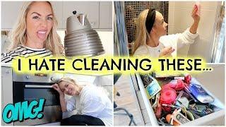 5 THINGS I HATE CLEANING!  CLEANING THINGS I HATE - CLEANING MOTIVATION     EMILY NORRIS