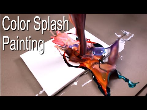 Color Splash Painting - Fluid abstract Art - Simple, fascinating results