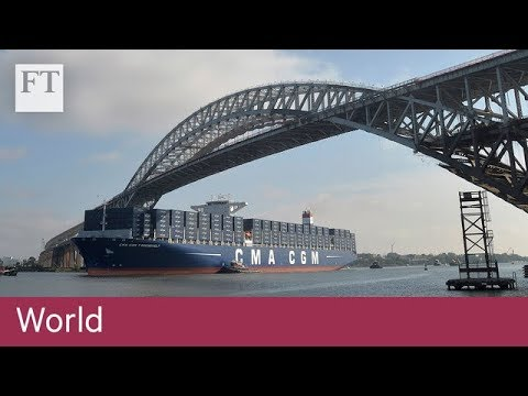 New York welcomes supersized cargo ships