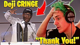 Ninja WINS Streamer of the Year 2018! Deji Embarrassing Attempt ROASTING Epic Games