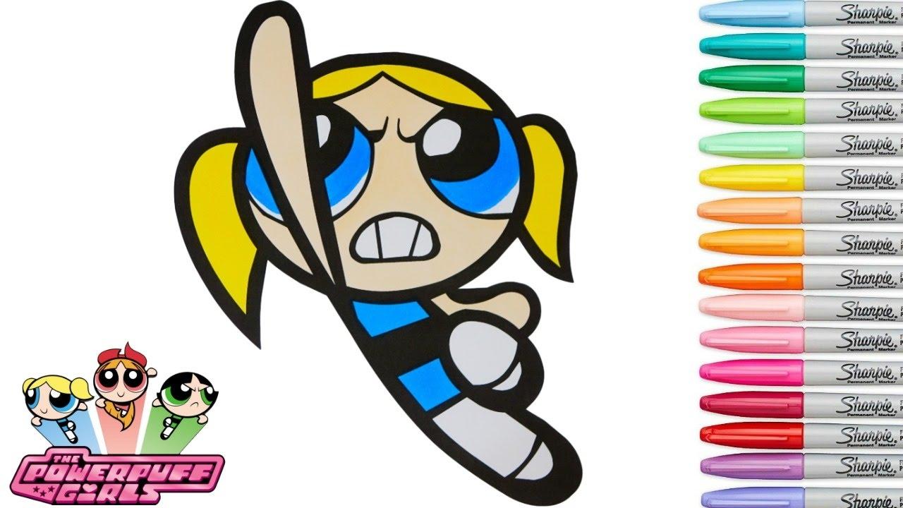 Powerpuff Girls Coloring Book Bubbles