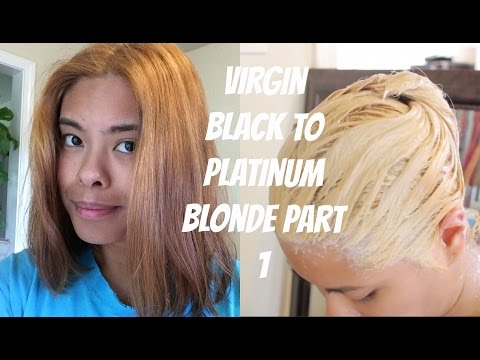 Virgin Asian Black to Platinum Blonde Part 1
