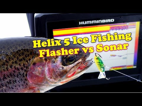 Helix 5 Ice Fishing: Flasher Vs Sonar Modes
